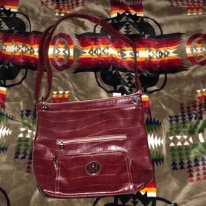 Relic Red Leather tote bag